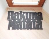 Mat based in The Lion King. Hakuna matata doormat. Custom door mat. It means no worries