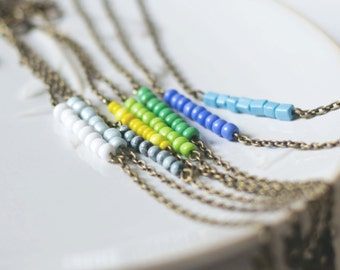 Minimalist bracelet - delicate jewelry - beaded bracelet - everyday bracelet - stacking bracelet - friendship  - bar minimalist bracelet