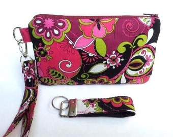 Cellphone Wristlet/Clutch and Key Fob