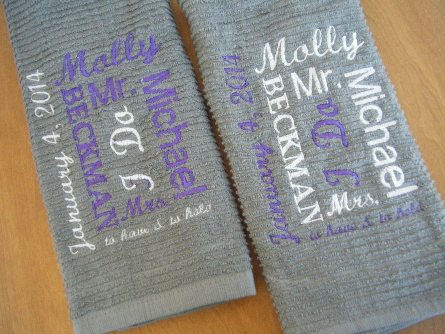 Personalized Kitchen Towel Wedding Gift Bridal Shower Gift