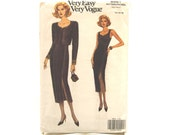 """1992 UNCUT Vintage Pattern for Jacket and Sleeveless Dress - Bust 36 - 40"""""""