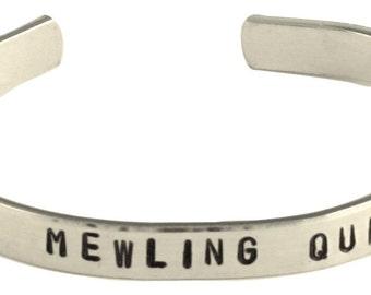 Avengers Loki Inspired Bracelet - Mewling Quim - Hand Stamped Aluminum Cuff