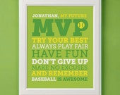 Personalized MVP Sports Rules of the Game Room Decorl 8x10
