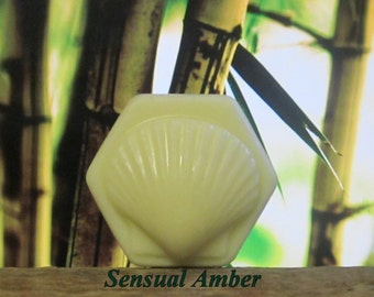 Sensual Amber Organic Solid Lotion Bar Large 4 oz.
