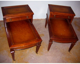 Pair Of Mersman Federal Revival Style Side Tables