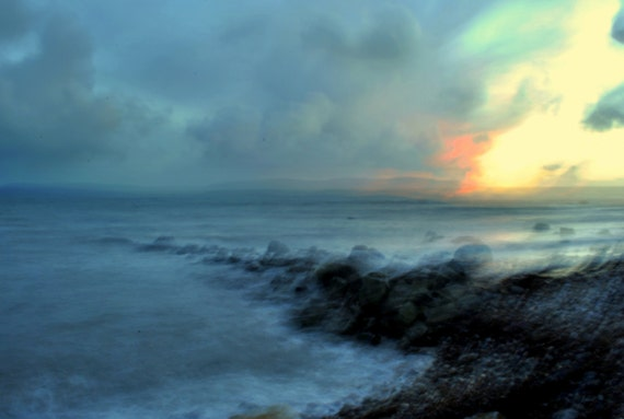 "Ireland Abstract Landscape Photograph of a winter sunset 21"" x 16"""