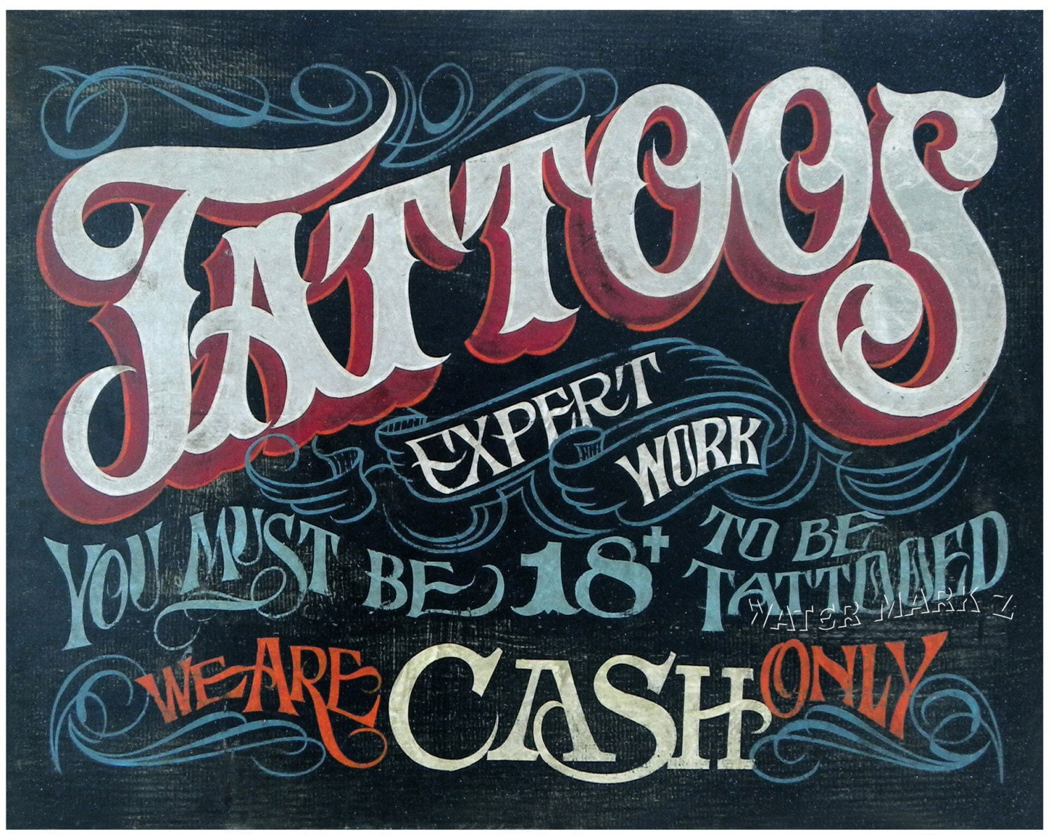 Tattoo policy style print for Tattoo shops in illinois