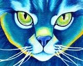 8x8 Art Print Maine Coon Cat Art Square Art Print Maine Coon Painting Blue Cat Artwork Pop Art Cat Square Painting Pop Art Cat Animal Art