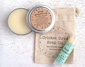 Lip Butter Set - Salve Set - Healing Gift Set - Lip Balm - Cuticle Cream - gift idea