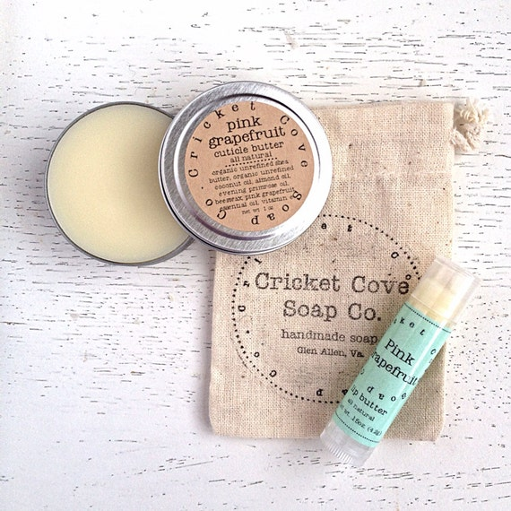 Lip Butter and Salve Set - Salve Set - Healing Gift Set - Lip Balm - Cuticle Cream - gift idea