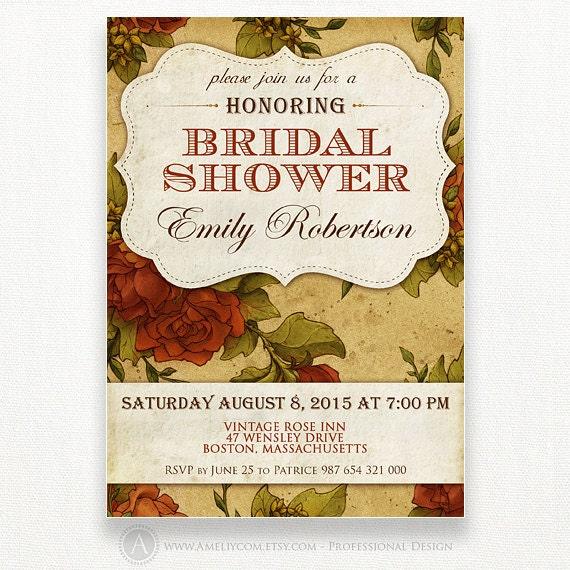 Items Similar To Custom Bridal Shower Honoring Invitation