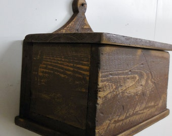 Primitive wall box, Dutch Box, Primitive candle box, Rustic Hanging box, Recipe Card Holder, Primitive wall box, Primitive wooden crate, box