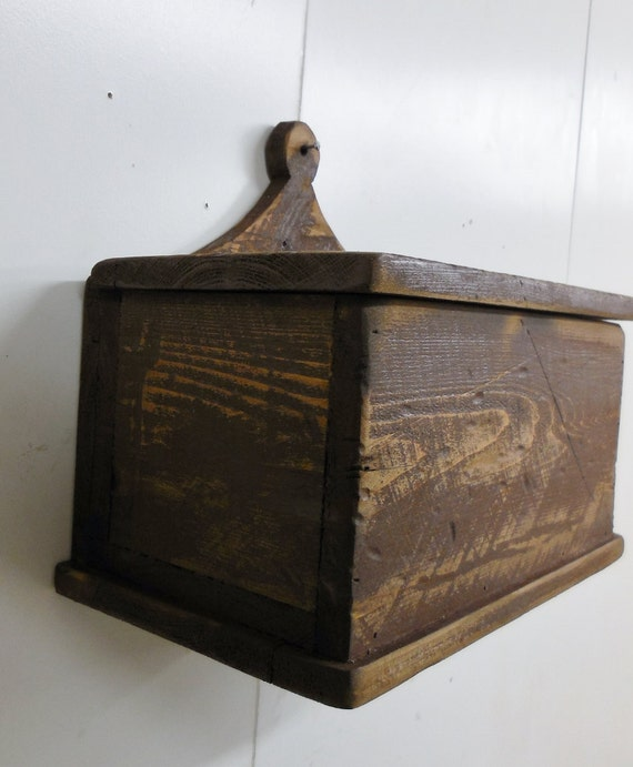 Wooden Wall Boxes : Primitive wall box dutch candle rustic