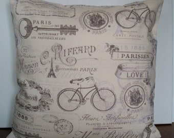 Paris theme pillow cover