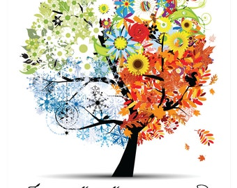 Digital Download - Ecclesiastes 3:1 Tree w Seasons - Personal Use Only