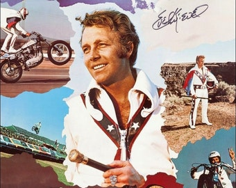 Evel Knievel Collectible Stunts Collage Stand-Up Display Limited Edition Souvenirs & Events Collectors Item Prints And Posters Sports kiss76