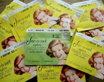 1960s HAIR Net ENVELOPES with Great Retro Graphics: 5 Envelopes WITHOUT Nets for Scrap Booking, Hair & Beauty Salon Display