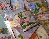 Zoë's Vintage Wallpaper Scrap Pack   30+ pcs   Antique Wall Paper Mini Paper Pack   Old Wall Paper   Floral   Patterns