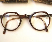 Vintage eyeglasses with cardboard box Grandfather glasses with diopter hyperopia