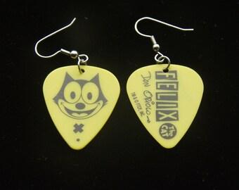 Felix The Cat,Guitar Pic, Guitar Pic Earrings