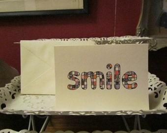 SMILE. greeting card - simply 'smile' card
