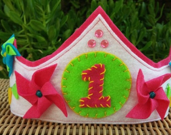 Girl's Felt Birthday Crown