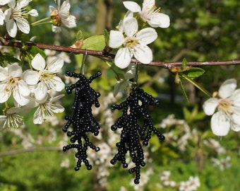 "Earrings ""Black Night"""