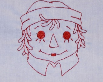 Raggedy Andy Embroidered Quilt Blocks