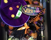 The Witch is In Halloween Wreath