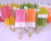 Soapsicle Set 6 pk - Ice Cream Popsicle Soap - baby shower - favors - hostess gift - birthday gift - mothers day soap