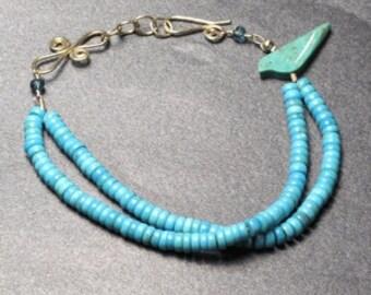 Double Strand Turquoise Bracelet 52