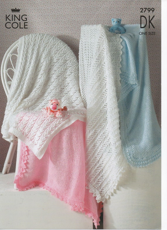 Knitting Patterns For A Baby Shawl : Knitting Pattern Baby Shawl collection by Surgewithlove on Etsy