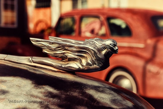classic car photography vintage cadillac hood ornament route