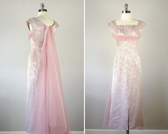 1950s Gown, 1950s Dress, Old Hollywood Glamour Dresses, Old Hollywood Dress, Vintage Wedding Dress, Formal Dress, Pink Dress, Small, Party