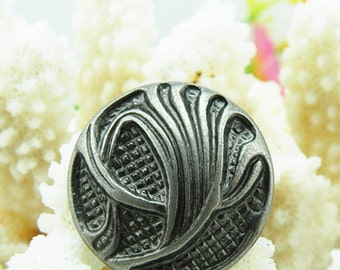 6 pcs 0.71~0.98 inch Retro Silver Carved Metal Shank Buttons for Coats Sweaters