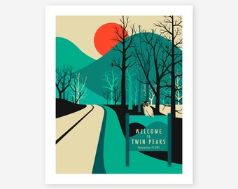 TWIN PEAKS Travel Poster Pop Art for the home decor, Giclee Fine Art Print