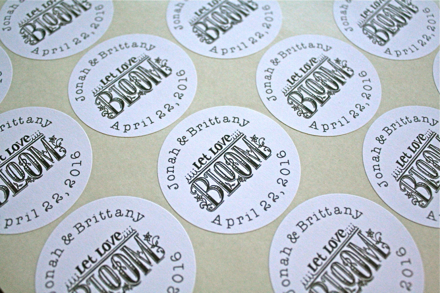 Wedding favor labels personalized stickers 2 round for Stickers for wedding favors