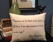Harry Potter-Dumbledore Quote-10X12 Inch-Natural Cotton Pillow