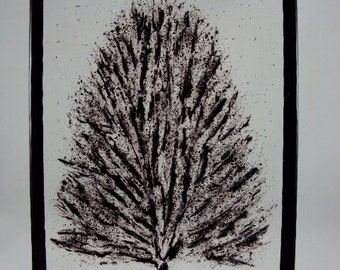 winter tree painted with glass
