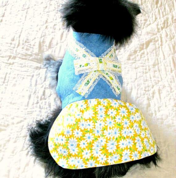 Dog Dress Small Dog Dress, Made to Order Dog, Toy Dog Dress, Teacup Dog Dress, Pomeranian Dress, Chihuahua Dress