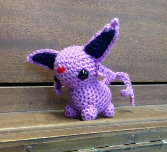 Amigurumi Pokemon Eevee : Espeon Pokemon amigurumi plush toy Eevee evolution