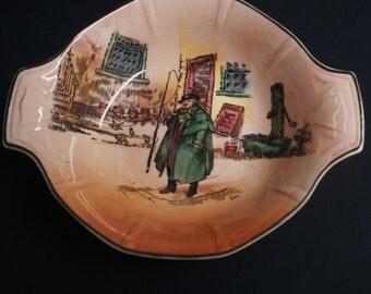 Uncommon  Antique Bowl ORIGINAL DICKENS WARE Tony Weller D6327 Great Quality