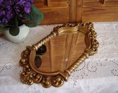 Vintage Syroco Mirror-Regency Mirror-Wall Mirror-Ornate Mirror-Gold Mirror