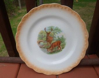 D.E. McNicol East Liverpool, Ohio Elk Dinner Plate  (T)