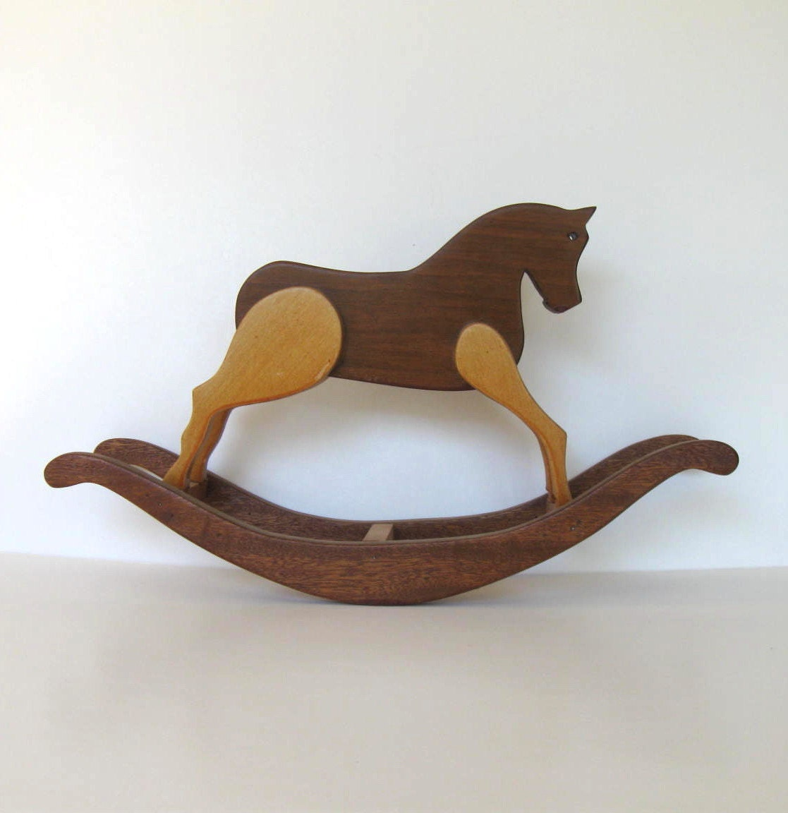 Vintage Handmade Wooden Rocking Horse By Jewelryandthings2