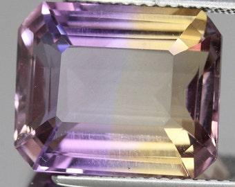 9.65 Ct. Natural Ametrine Octagon Purple Yellow Loose Gemstone