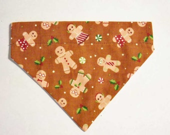 Christmas Pet Bandana Gingerbread Man Medium Pet Bandana