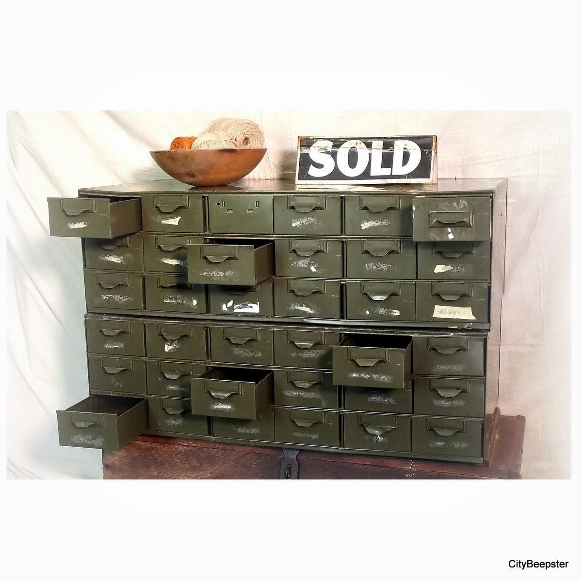 Vintage Industrial Cabinet Industrial Storage Lyon Metal