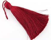 Dark Cherry, Large and Thick Silk Tassel- Jewelry Supplies  // TAS-020