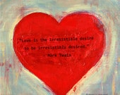 Desire Heart / Love Quote / Plaque Wall Art / Gift / Valentine's Day